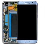 Samsung Samsung Galaxy S7 Edge Skjerm med LCD-display, Blå - Original