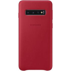 Samsung Samsung Leather Cover for Samsung Galaxy S10 - Rød (OUTLET-VARE)