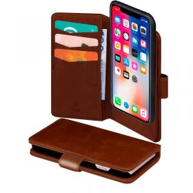 SiGN SiGN Lommeboketui 2-in-1 for iPhone X & XS - Brun