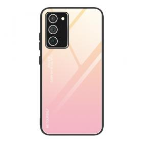 Taltech Gradient Color Deksel for Samsung Galaxy A52 5G & A52s 5G - Gull/Rosa