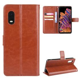 Taltech Crazy Horse Lommeboketui for Galaxy Xcover Pro - Brun