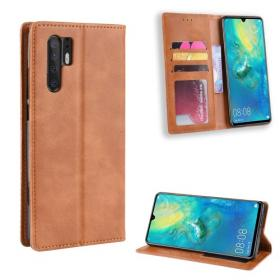 Vintage Style Lommeboketui for Huawei P30 Pro - Brun