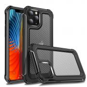 Taltech Carbon Fiber Deksel for iPhone 12 Max/12 Pro - Svart/Transparent