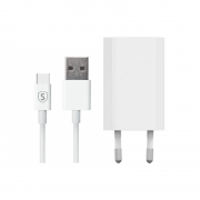 SiGN SiGN USB-C Lader 1m, 1A - Hvit