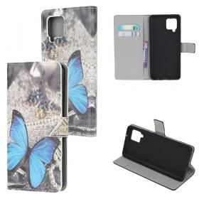 Taltech Etui for Samsung Galaxy A42 - Blue Butterfly