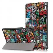 Taltech Tri-fold Etui for Samsung Galaxy Tab A 10.1 2019 - Graffiti
