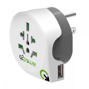 SKROSS Q2power Verden til USA Reiseadapter med 1 x USB-A 5V 2,1A