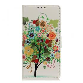 Taltech Lommeboketui for Samsung Galaxy S21 Plus - Colorful Tree