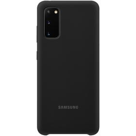 Samsung Samsung Silicone Cover for Samsung Galaxy S20 - Svart (OUTLET-VARE)
