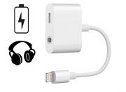 SiGN Lightning til 3.5mm Adapter for Lyd & Ladekabel