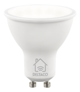 DELTACO Deltaco Smart Home LED-Lyspære GU10, WiFI Dimmbar 220-240V - Hvit