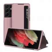 Taltech View Window Flipetui for Samsung Galaxy S21 Ultra - Rosé