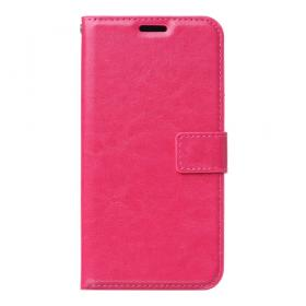 Taltech Crazy Horse Etui med Kortlommer for Samsung Galaxy A10 - Rosa