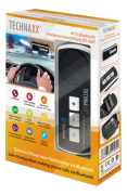 Technaxx Car Bluetooth Handsfree-system BT-X22, Bluetooth 4.0, svart