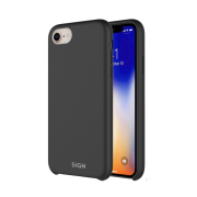 SiGN SiGN Liquid Silicone Case for iPhone 7 & 8 - Svart