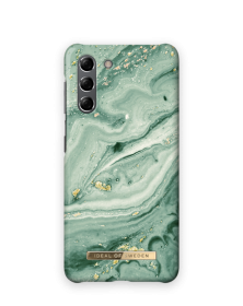 iDeal of Sweden iDeal Fashion Case for Samsung Galaxy S21 - Mint Swirl Marble