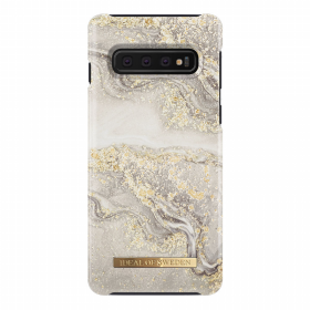 iDeal of Sweden iDeal Fashion Case for Samsung Galaxy S10 - Sparkle Greige Marble