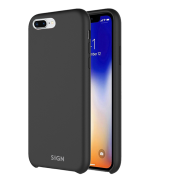 SiGN SiGN Liquid Silicone Case for iPhone 7 & 8 Plus - Svart