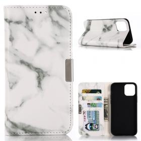 Taltech Marble Etui for iPhone 12 Pro Max - Hvit