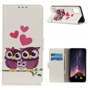 Taltech Lommeboketui for Samsung Galaxy A72 4G/5G - Owls & Hearts
