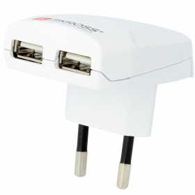 SKROSS SKROSS 2-Port USB-lader EU - Hvit