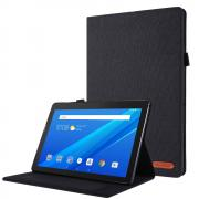 Taltech Cloth Texture Etui for Lenovo Tab M10 - Svart