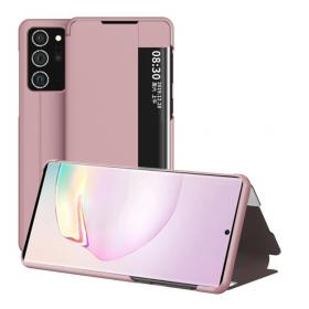 Taltech Etui View Window for Samsung Galaxy Note 20 - Rosa