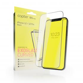 """Copter Copter Exoglass Curved Frame for iPhone 12 Pro & iPhone 12 6.1"""" - Svart"""