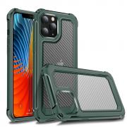 Taltech Carbon Fiber Deksel for iPhone 12 - Grønn/Transparent