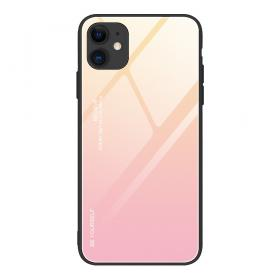 Taltech Gradient Color Deksel for iPhone 12 /12 Pro - Guld/Rosa