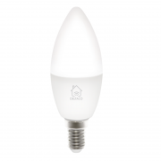 DELTACO Deltaco Smart Home LED-lys, E14, WiFI 2,4 GHz, 5W, dimbar, 2700K-6500K