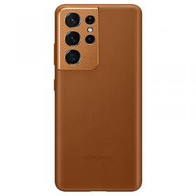 Samsung Samsung Leather Cover for Samsung Galaxy S21 Ultra 5G - Brun (OUTLET-VARE)