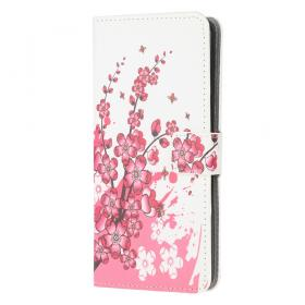 Taltech Lommeboketui for Samsung Galaxy A12 - Red Flower