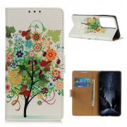 Taltech Lommeboketui for Samsung Galaxy S21 Ultra - Colorful Tree