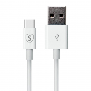 SiGN SiGN USB-C-kabel for Hurtigladning 0,25 m - Hvit