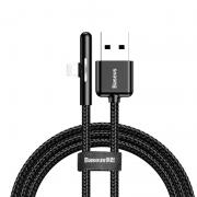 Baseus Baseus Vinklet Lightning Kabel for Mobilspill til iPhone, 2m - Svart