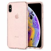 Spigen Liquid Chrystal Glitter Deksel til iPhone XS - Transparent