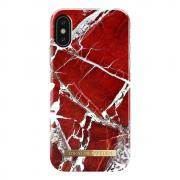 iDeal of Sweden iDeal Fashion Case til iPhone X & XS - Scarlet Red Marble