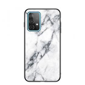 Taltech Deksel for Samsung Galaxy A52 4G/5G & A52s 5G - White Marble