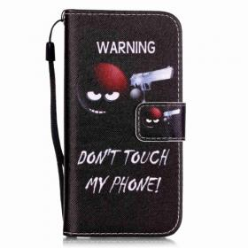 """Taltech Skinnetui """"Warning Don't touch my phone"""" til iPhone 7/8"""