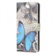 Taltech Lommeboketui for Samsung Galaxy A32 5G - Blue Butterfly