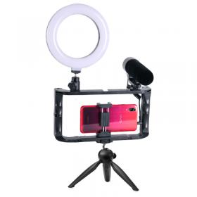 Gadget Monster Gadgetmonster Vlogging Kit - Ring Light/Stativ/Mikrofon