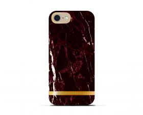 Richmond Richmond & Finch Deksel for iPhone 6-6S-7-8 - Red Marble Glossy