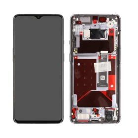 OnePlus OnePlus 7T Skjerm med LCD Display - Frosted Silver