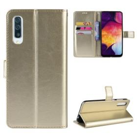Taltech Crazy Horse Lommeboketui for Samsung Galaxy A50 - Gull