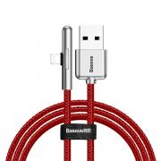 Baseus Baseus Vinklet Lightning Kabel for Mobilspill til iPhone, 2m - Rød
