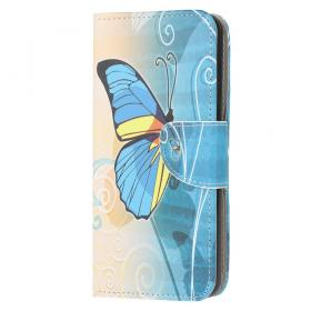 Taltech Lommeboketui for Samsung Galaxy A52 4G/5G & A52s 5G - Blue Butterfly