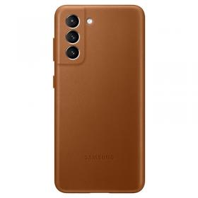 Samsung Samsung Leather Cover for Samsung Galaxy S21 5G - Brun