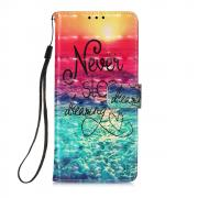 Taltech Lommeboketui for Samsung Galaxy S21 Ultra 5G - Sea of Clouds/Colorful