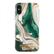iDeal Fashion Case for iPhone X & XS - Golden Jade Marble